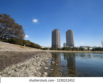 Odaiba Beach Park and Tower Mansion