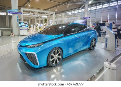 ODAIBA , TOKYO - MARCH 17 : A Toyota FCV is a prototype hydrogen fuel cell at Toyota Mega Web showroom, Odaiba, Tokyo on March 17 2015