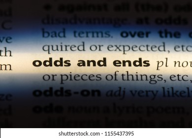 odds and ends word in a dictionary. odds and ends concept.