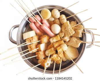 Oden Japanese food isolated white background