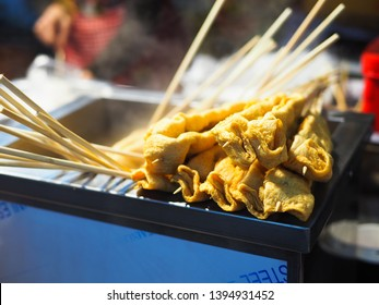 Oden skewer in Myeong dong  night market,Seoul South Korean Food.