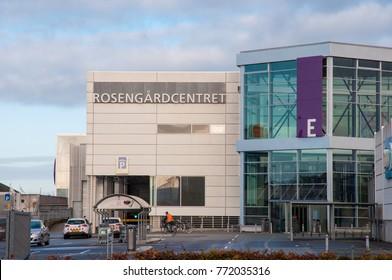 Odense Denmark - November 2. 2017: Rosengaard shopping mall