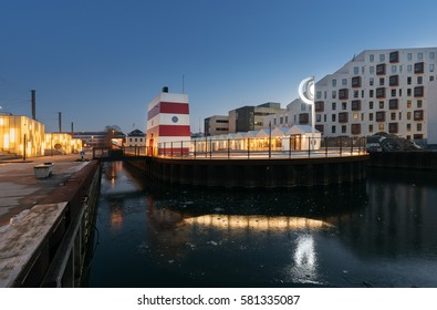 Odense outdoor harbour swimming pool, Denmark.