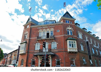 Odense, Sweden - August 4, 2018 - First Hotel Grand in central Odense