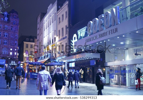 Odeon cinema at London Leicester Square - the hot spot for film premieres - LONDON / ENGLAND - DECEMBER 12, 2016