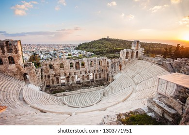 The Odeon of Herodes Atticus in Acropolis. Athens, Greece. Popular travel destination