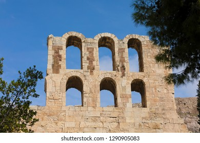 The Odeon of Herodes Atticus in Athens, Greece