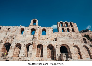 The Odeon of Herodes Atticus is a stone theatre structure located on the southwest slope of the Acropolis of Athens, Greece