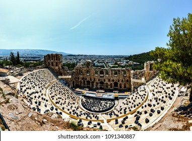 The Odeon of Herodes Atticus is a stone theatre structure located on the southwest slope of the Acropolis of Athens, Greece.