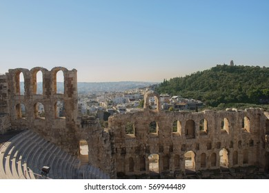 The Odeon of Herodes Atticus is a stone theatre structure located on the southwest slope of the Acropolis of Athens.