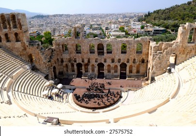 The Odeon of Herodes Atticus - theatre in Athens, Greece
