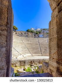 Odeon of Herodes Atticus under Acropolis in Athens,Greece