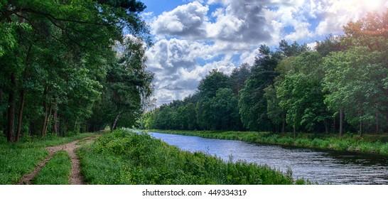 Oder-Spree Canal in Berlin Germany