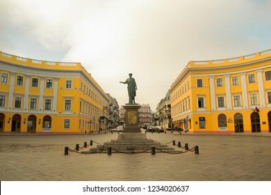Odessa - 11.7.2018: monument of Duk, first Odessa mayor