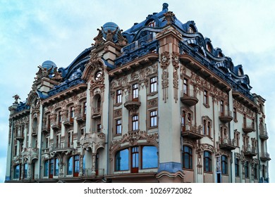 Odessa architecture on the main square isolated