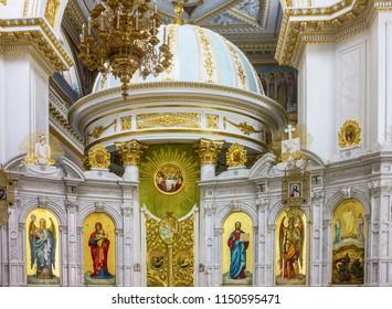 Odessa Cathedral church interior, Ukraine