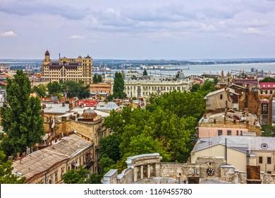 Odessa city landscape sea view, Ukraine