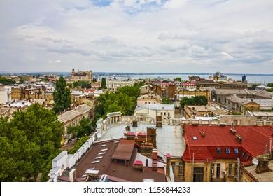 Odessa city panoramic sea view, Ukraine
