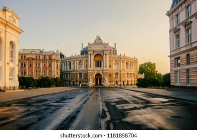 Odessa Opera and Ballet Theater at sunrise,Odessa Opera and Ballet Theater is the visit card of my hometown.