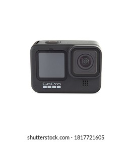 Odessa, Ukraine - 05.17.2020 GoPro HERO9 Black isolated on white background