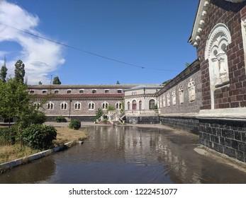 Odessa, Ukraine - 1 august 2018 old health spa resort of Odessa Sanatorium Kuyalnik