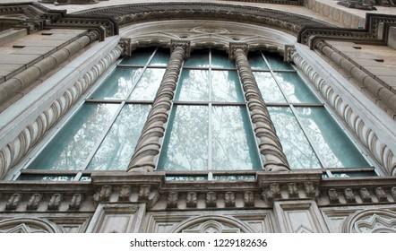 Odessa, Ukraine - 11/11/2018:Odessa Philharmonic windows