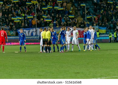 ODESSA, UKRAINE - 12 November 2016: Euro Soccer Champions League, European Qualifiers Ukraine between FC and the national team of FC Finland. 1: 0 National Football Team Finland 2016 Euro Championship