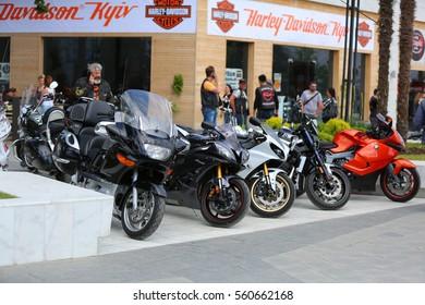 Odessa, Ukraine - 2015 May 30: International biker festival. Motor bike show.