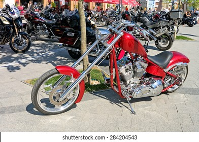 Odessa, Ukraine - 31 May 2015: beautiful detail fragment of the motorcycle. Motorcycles bikers.