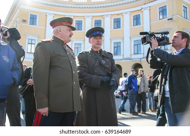 Odessa, Ukraine April 10, 2011: Reconstruction of military historical celebration of day of liberation Odessa from German fascist invaders during Second World War