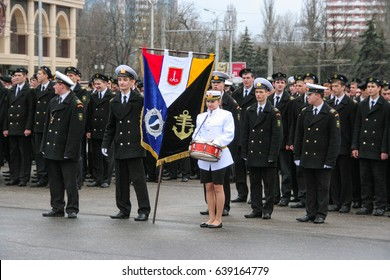 Odessa, Ukraine April 10, 2011: Guard of honor