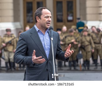 ODESSA, UKRAINE - APRIL 10: A candidate for the presidency in 2014 - Tihipko on holiday Liberation Day in Odessa during World War II - April 10, 2014 in Odessa, Ukraine
