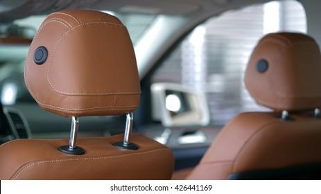 ODESSA, UKRAINE - April 29, 2016: mersedes gls class car headrests in modern style