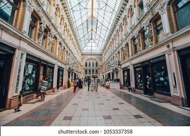 ODESSA, UKRAINE - AUGUST 19, 2017: Antique mall in Odessa