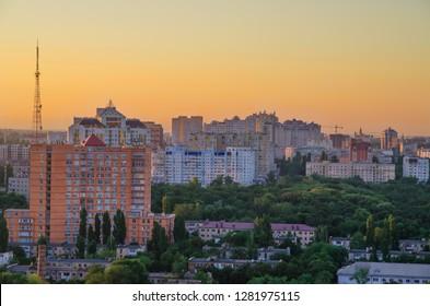 Odessa, Ukraine - August 2017: Sunset View of Odessa from Gulfstream Apartment.