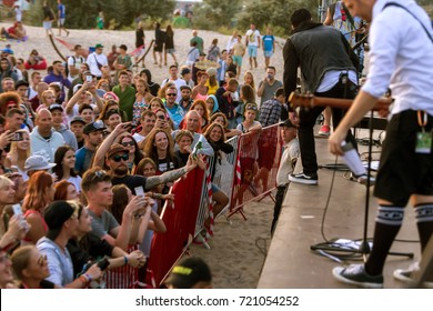 ODESSA, UKRAINE - August 22, 2017: American rock band ZEBRAHEAD from Orange County, California, combining styles of pop punk, punk rock and rapkor at Z-games festival