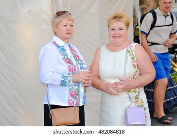 ODESSA, UKRAINE - AUGUST 24: Ukrainian at Vyshivankovy Festival on August 24,2016 in Odessa, Ukraine