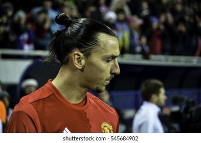 ODESSA, UKRAINE - December 08, 2016: Zlatan Ibrahimovic during the UEFA Europa League match between Zarya Lugansk vs Manchester United (Manchester, United Kingdom), Ukraine