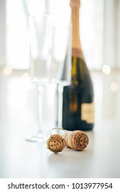 ODESSA, UKRAINE - January 30 2018: Moet & Chandon Champagne cork