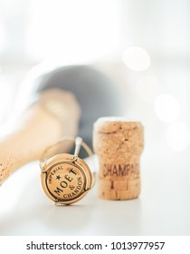 ODESSA, UKRAINE - January 30 2018: Moet & Chandon Champagne cork