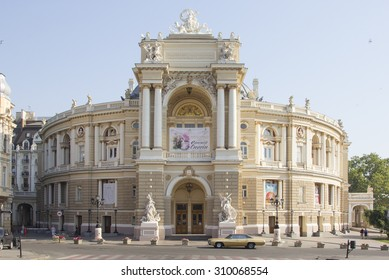 Odessa, Ukraine - July 26, 2015:The Odessa National Academic Theater of Opera and Ballet is the oldest theater in Odessa, Ukraine.
