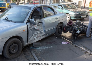 Similar Images, Stock Photos & Vectors of car crash accident on