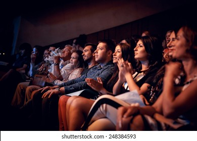 Odessa, Ukraine - June 20, 2014: The audience at a concert during the creative light and music show fashionable jazz band
