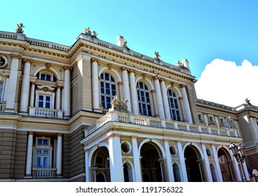 ODESSA, UKRAINE - JUNE 30, 2018: The Odessa National Academic Theatre of Opera and Ballet.