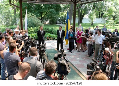 Odessa, Ukraine - June 4, 2011: Minister of Foreign Affairs of the Russian Federation Sergei Lavrov, on an official visit Ukraine, June 4, 2011 in Odessa, Ukraine.