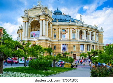 ODESSA, UKRAINE - MAY 17, 2015: The Odessa National Academic Theatre of Opera and Ballet is the most notable landmark of the city, on May 17 in Odessa.