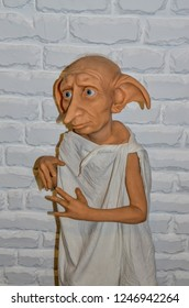 ODESSA, UKRAINE - May 26, 2018:   the wax figure of Dobby, domestic elf,  at the wax museum Babu Yti.