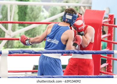 Odessa, Ukraine May 28, 2011: Children's boxing tournament. Competitions in boxing among children and teenagers