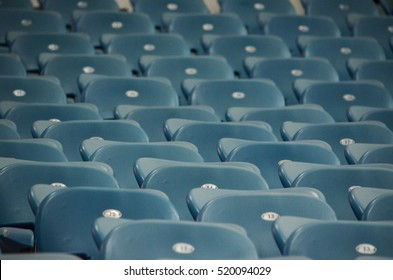 ODESSA, UKRAINE - November 03, 2016: Empty sector without spectators in the stadium during the UEFA Europa League match group stage Zarya vs Feyenoord, Ukraine
