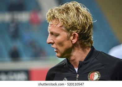 ODESSA, UKRAINE - November 03, 2016: Player during the UEFA Europa League match group stage Zarya Lugansk vs Feyenoord Rotterdam, Ukraine
